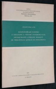 náhled knihy - Hospodářské poměry a sociální a třídní diferenciace společnosti střední Moravy ve třicátých letech do Mnichova