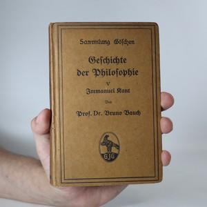 náhled knihy - Geschichte der Philosophie V. Immanuel Kant