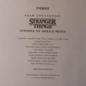 antikvární kniha Stranger things. Temnota na okraji města, 2020