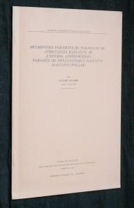náhled knihy - Helminthes parasites du Paraguay III: Atriotaenia hastati