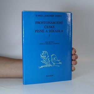 náhled knihy - Prostonárodní české písně a říkadla 1