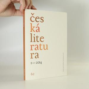náhled knihy - Česká literatura 1/2014 (bez tiráže)