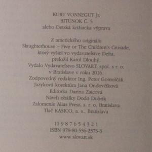 antikvární kniha Bitúnok č. 5, 2016