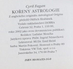 antikvární kniha Kořeny astrologie, 2002