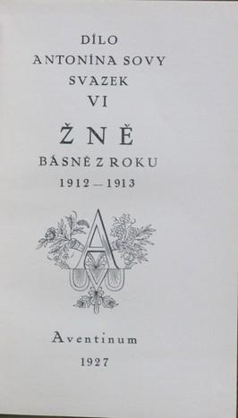 náhled knihy - Žně : Básně z roku 1912-1913