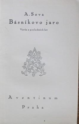 náhled knihy - Básníkovo jaro : verše z posledních let