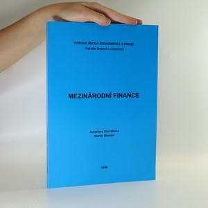 náhled knihy - Mezinárodní finance