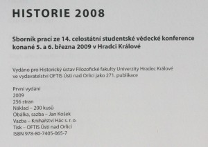 antikvární kniha Historie 2008, 2009