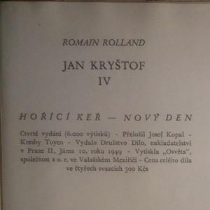antikvární kniha Jan Kryštof 3. a 4. díl (1 svazek), 1949