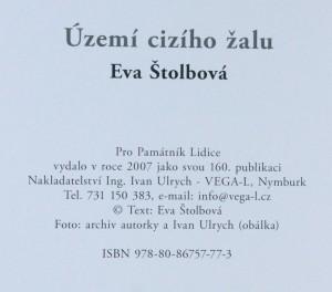antikvární kniha Území cizího žalu : (duben - září 2007), 2007