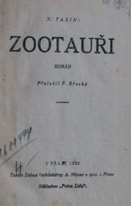 antikvární kniha Zootauři , 1928