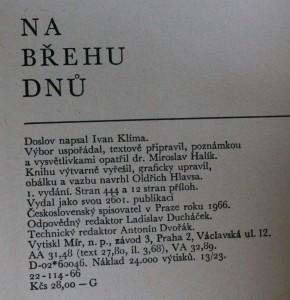 antikvární kniha Na břehu dnů, 1966