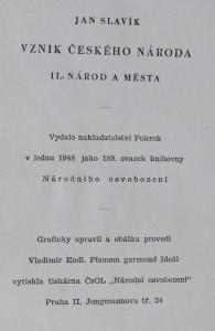 antikvární kniha Vznik českého národa : úvod do českých dějin. II, Národ a města, 1948