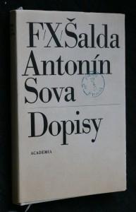 náhled knihy - F.X. Šalda, Antonín Sova - dopisy