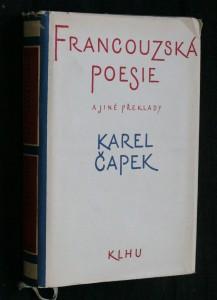 náhled knihy - Francouzská poesie a jiné překlady Karla Čapka