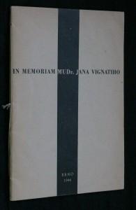 náhled knihy - In memoriam MUDr. Jana Vignatiho