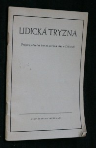 náhled knihy - Lidická tryzna : projevy, učiněné dne 10. června 1945 v Lidicíc