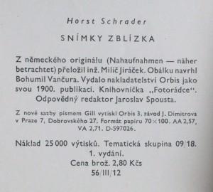 náhled knihy - Snímky zblízka, 1959