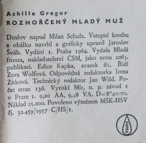 náhled knihy - Rozhořčený mladý muž , 1964