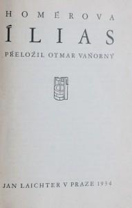 náhled knihy - Homérova Ílias, 1934