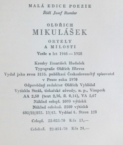 náhled knihy - Ortely a milosti : verše z let 1946-1958, 1970