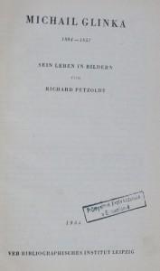 náhled knihy - Michail Glinka,  sein leben in bildern, 1955