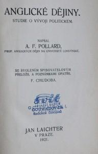 náhled knihy - Anglické dějiny, studie o vývoji politickém , 1921
