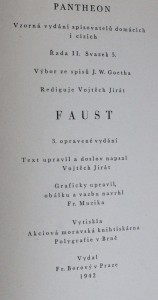 náhled knihy - Faust, 1942