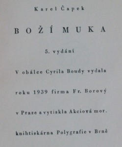 náhled knihy - Boží muka , 1939