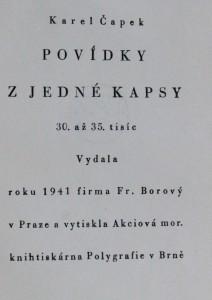 náhled knihy - Povídky z jedné kapsy, 1941