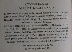 náhled knihy - Mistr Kampanus, 1952