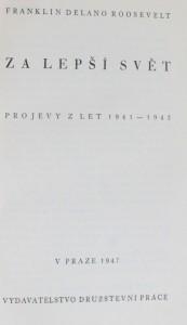 náhled knihy - Za lepší svět : projevy z let 1941-1945, 1947
