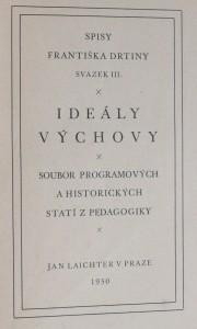 náhled knihy - Ideály výchovy : soubor programových a historických statí z pedagogiky, 1930