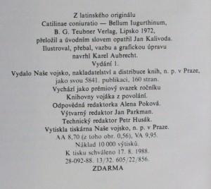 náhled knihy - Catilinovo spiknutí ; Válka s Jugurtou, 1988