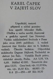 náhled knihy - V zajetí slov : kritika slov a úsloví, 1969