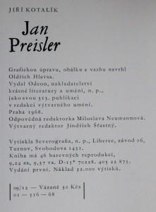 náhled knihy - Jan Preisler, 1968