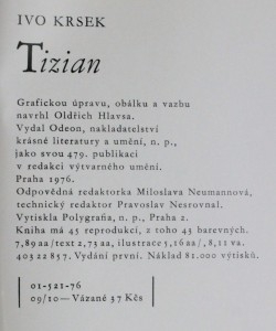 náhled knihy - Tizian : [Monografie], 1976
