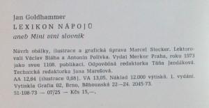 antikvární kniha Lexikon nápojů : mini-vini slovník, 1973