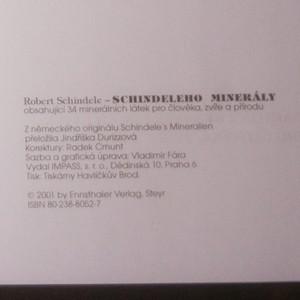 antikvární kniha Schindeleho minerály. Obsahující 34 minerálních látek pro člověka, zvíře a přírodu, neuveden