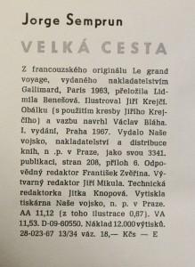 antikvární kniha Velká cesta, 1967