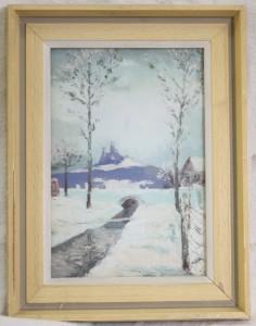 náhled knihy - Zimní pohled na hrad Trosky