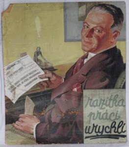 náhled knihy - kartonová reklama: razítka práci urychlí, Machalínek