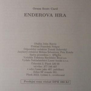 antikvární kniha Enderova hra, 2013