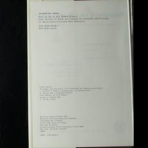 antikvární kniha Neurologie und Psychiatrie, 1987