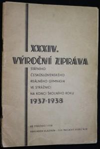 náhled knihy - XXXIV. Výroční zpráva státního československého reálného gymnasia ve Strážnici na konci školního roku