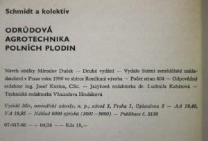 antikvární kniha Odrůdová agrotechnika polních plodin, 1980