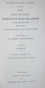 antikvární kniha Vítězové nad hladem, 1941