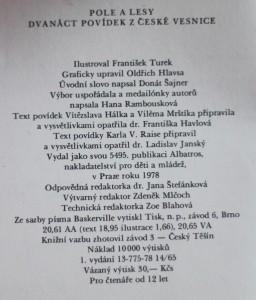 antikvární kniha Pole a lesy : 12 povídek z české vesnice, 1978