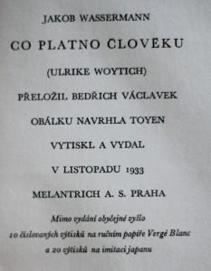 antikvární kniha Co platno člověku = (Ulrike Woytich), 1933