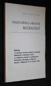 náhled knihy - Vlastivědný věstník Moravský, č. 3, ročník 22.
